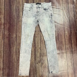 Express Gray Distressed Jeggings